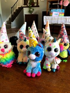 Beanie Boo Party, Ty Beanie Boos, Party Hats, Party Animals, Animal Party, 6th Birthday Parties, 8th Birthday, Adoption Party, Pet Adoption