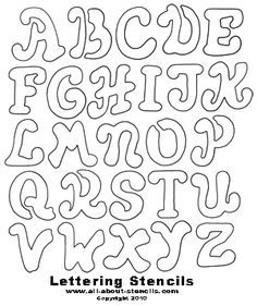 Graffiti Lettering Stencils  Free Alphabet  Abc Coloring Pages