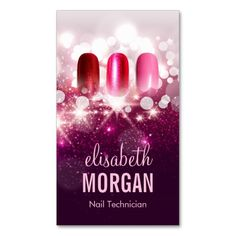 296 best manicurist business cards images on pinterest business nail technician manicurist pink beauty glitter business card colourmoves