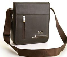 41dd0a117cdc Grand-homme-brun-fonce-epaule-Sac-Messenger-vol-en-Cuir -Synthetique-Smart-elegant