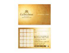 La bonheur_Members Card | Beauty salon graphic design ideas | Follow us on https://www.facebook.com/TracksGroup | 美容室 デザイン カード メンバーズカード
