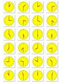 Librairie-Interactive - Horloges en image pour travailler l'heure