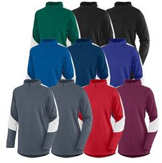 • 90% polyester/10% spandex knit • Wicks moisture away from the body • Ladies' fit • Half-zip pullover style with locking z | Midwest Volleyball Warehouse