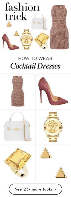 """Fashion Trick"" featuring dVb Victoria Beckham, Versace, Argento Vivo, Christian Louboutin, Movado and StyleRocks Work Fashion, Runway Fashion, Womens Fashion, Fashion Tips, Fashion Trends, Fashion Outfits, Style Work, My Style, New York Fashion Week 2017"