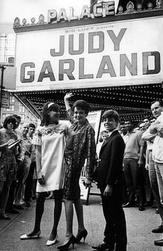 Judy Garland at the Palace with two of her children, Lorna and Joey.