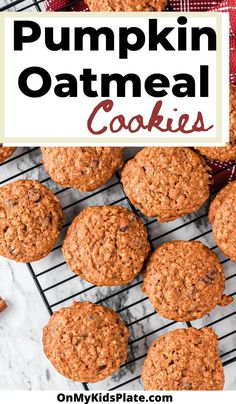 These pumpkin oatmeal cookies are extra soft and chewy. The perfect combinatin of a pumpkin cookies and an oatmeal cookie! These chewy cookies are filled with cinnamon and just the right amount of pumpkin flavor, yum!