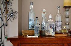 Picture Frames Wine Bottle DIY Idea