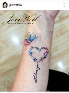 Mother Tattoos, Mom Tattoos, Wrist Tattoos, Flower Tattoos, Body Art Tattoos, Small Tattoos, Tattoos For Women, Tatoos, Heart Flower Tattoo