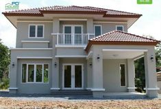 similar type home Two Story House Design, 2 Storey House Design, Bungalow House Design, House Front Design, Modern Bungalow House, Modern Mansion, Exterior Paint Colors For House, Dream House Exterior, Dream House Plans