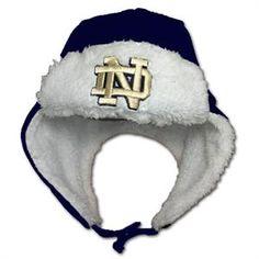 7ab8639eb21 Notre Dame Infant Faux Sheepskin Winter Hat