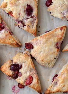 Ricotta and Fresh Cherry Scones