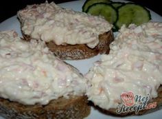 Diabetic Recipes, Diet Recipes, Cooking Recipes, Healthy Recipes, Czech Recipes, Salty Foods, Snacks, Easy Cooking, Good Food