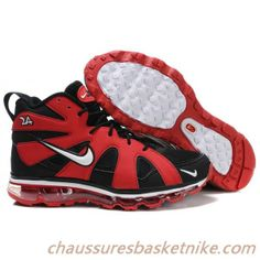 new style b5d36 917f0 Nike Air Max Griffey Fury 2012 Noir Rouge Chaussures Hommes