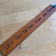 Leather Bookmark Third Anniversary Gift Leather Anniversary Love You to the Moon and Back - Love That Leather#anniversary #bookmark #gift #leather #love #moon Leather Anniversary Gift, Anniversary Gifts For Him, Custom Bookmarks, Leather Bookmarks, Traditional Anniversary Gifts, Laser Cutter Projects, Diy Projects For Beginners, Fun Hobbies, Moon