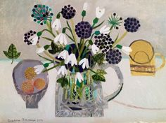 Vanessa Bowman - SNOWDROPS AND YELLOW CUP