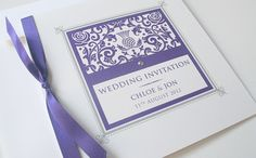 Love the detailing on the Scottish style lavender invitation.
