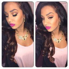 "MAC ""flat out fabulous "" lip colour ! Amazing makeup for medium skin tone"