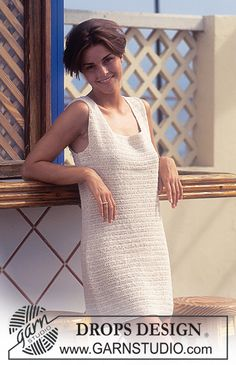 DROPS Crochet dress in Safran ~ DROPS Design