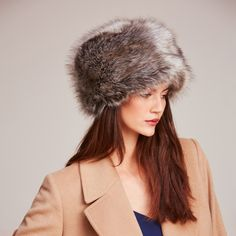 e68d7b76 Lady Grey Faux Fur Pillbox Hat