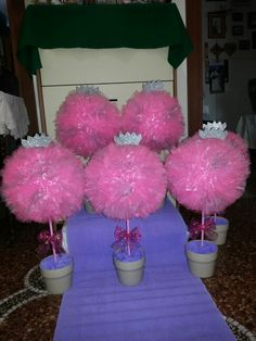 Tulle topiaries