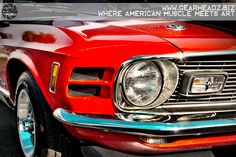 "Fire Breathing Mustang Mach 1  Get the print over at www.gearheadz.biz. $45.00 and FREE priority shipping in the US! (24""x36"") #americanmuscle"