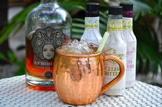 Signature Drink Ideas with a Moscow Mule Twist. We are always looking for amazing concepts to share with our clients as options for their wedding signature drink. Wedding Signature Drinks, Copper Mugs, Lets Try, Ginger Beer, 1 Oz, Lemon Grass, Moscow Mule Mugs, Rum, Vodka