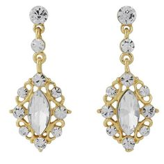 Timeless Beauty Bridal Earrings In Gold