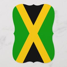 Shop Flag of Jamaica created by FlagGallery. Retirement Invitations, Custom Invitations, Jamaica Flag, Party Flags, Flags Of The World, National Flag, Paper Texture, Pride, Banner