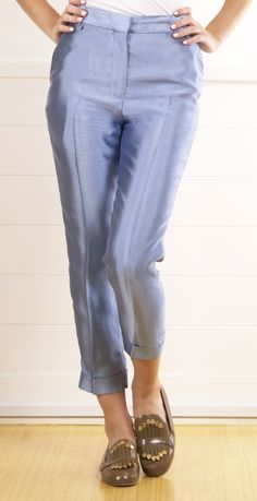 No one should ever wear these. Haider Ackermann Silk Light Blue Printed Pants