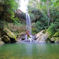 Gozalandia Waterfalls in San Sebastián, Puerto Rico >>> This place sounds amazing and you can run around and have the whole place to yourself if you go at the right time.