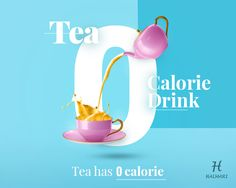 #HealthTips of the Day: Tea is a totally #caloriefree drink and studies in the past have shown that even if 250 calories less per day are consumed, it has resulted in a weight loss of about a pound a week.  #ZeroCalorieTea