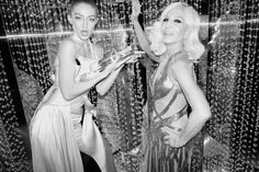 Gigi Hadid and Donatella Versace photographed by Greg Williams at The Fashion Awards 2016