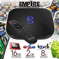 Empire Distributions Fully Programmed Matricom GBox Q Android TV QuadOcto Core 2GB16GB4K Streaming Media Mini PC >>> Visit the image link more details.
