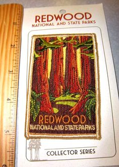Redwoods National State Park California Iron on Embroidered Patch New Patch | eBay