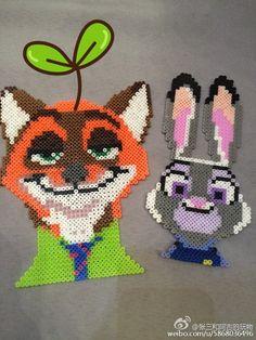 Nick and Judy - Zootopia perler beads