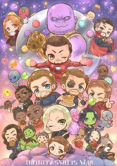 marvel chibi Thats so cute ,uwu Chibi Marvel, Marvel Fan Art, Marvel Funny, Marvel Memes, Marvel Dc Comics, Thanos Avengers, Avengers Cartoon, Marvel Cartoons, Baby Avengers