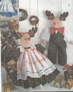 Simplicity Crafts 7045 Reindeer & Bear Sewing Pattern - Home Decor Sewing Pattern - Doll Clothes Uncut Sewing Pattern - Craft Sewing Pattern by SimplyCraftSupplies on Etsy