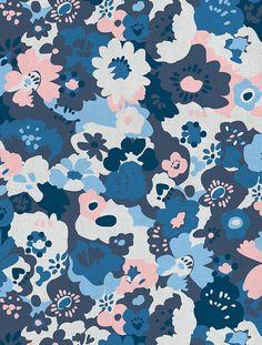 Wildflower Fabric in Bluebird by Aimée Wilder