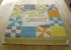 Quilt Birthday Cake   The Cake Cow: Quilt Cake