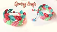How to macrame: Spring leafs bracelet
