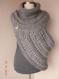Katnis Cowl Huntress Crossbody Cowl Crochet by Stylishknitting