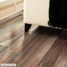 "Beautiful Sandalwood Palm 6"" x 24"" hardwood look tile."