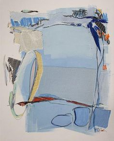Reductive process-Karin Olah, original fine art paintings with fabric and mixed media