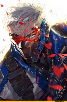 Soldier 76,Overwatch,Blizzard,Blizzard Entertainment,фэндомы,Overwatch art