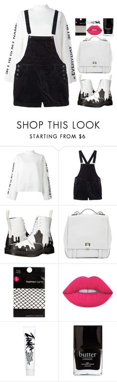 """White"" by brigi-bodoki ❤ liked on Polyvore featuring Steve J & Yoni P, Monki, Dr. Martens, Proenza Schouler, Dorothy Perkins, Lime Crime, Forever 21 and Jack Black"