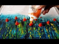 Easy / Abstract painting / Palette knife and Blending in Acrylics / Demonstration - YouTube