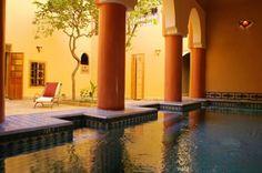 Riad courtyard pool