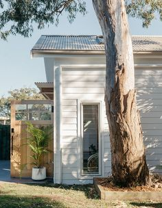 A creative, barn-type extension to a NSW Central Coast family home, designed by Fabric Architecture. Coastal Living Rooms, Coastal Homes, Coastal Cottage, Coastal Country, Wine Country, Surf Shack, Beach Shack, Australian Architecture, Australian Homes