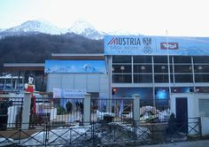 SOCHI, RUSSIA - FEBRUARY 04: Views of the Austrian House prior to the Sochi 2014 Winter Olympics at the Mountain Cluster on February 4, 2014 in Sochi, Russia. (Photo by Julian Finney/Getty Images)
