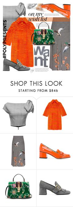 """""""#PolyPresents: Wish List in Grey and Orange"""" by olga1402 on Polyvore featuring Maticevski, Gucci, Stella Jean, Gap, Prada, contestentry and polyPresents"""